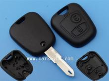 Top quality Peugeot 206 2 button remote key shell,smart key blank auto car key case