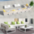 Modern Fashion Outdoor Garden White Powder Coated Aluminum Rope Sofa Set