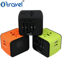 High quality premium gift world wide usb travel adapter office stationery corporate gift travel adapter business gift