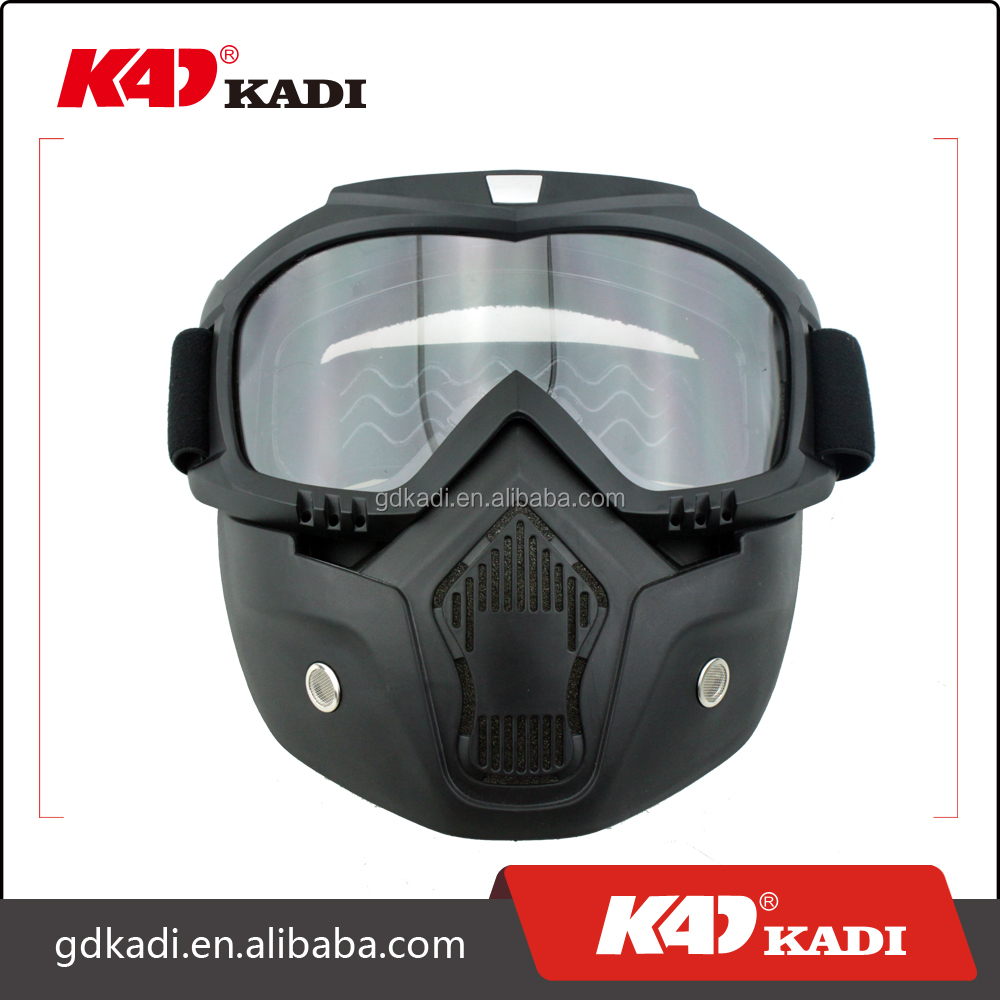 High quality best Motorcycle helmet goggles outdoor riding removable mask for Harley