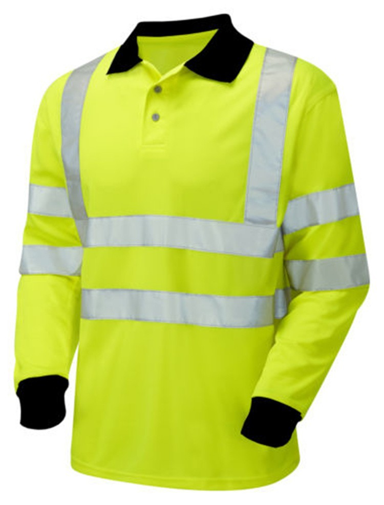 High visibility polo shirt safety work wear polo shirt for High visibility safety t shirts