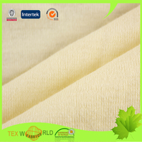 Popular Soft Yellow Plain Knitted 100 Cotton Fabric for T-Shirts