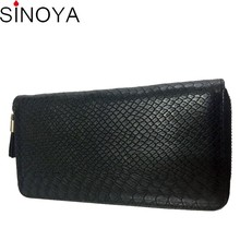 2016 fashion genuine leather long clutch magic wallet
