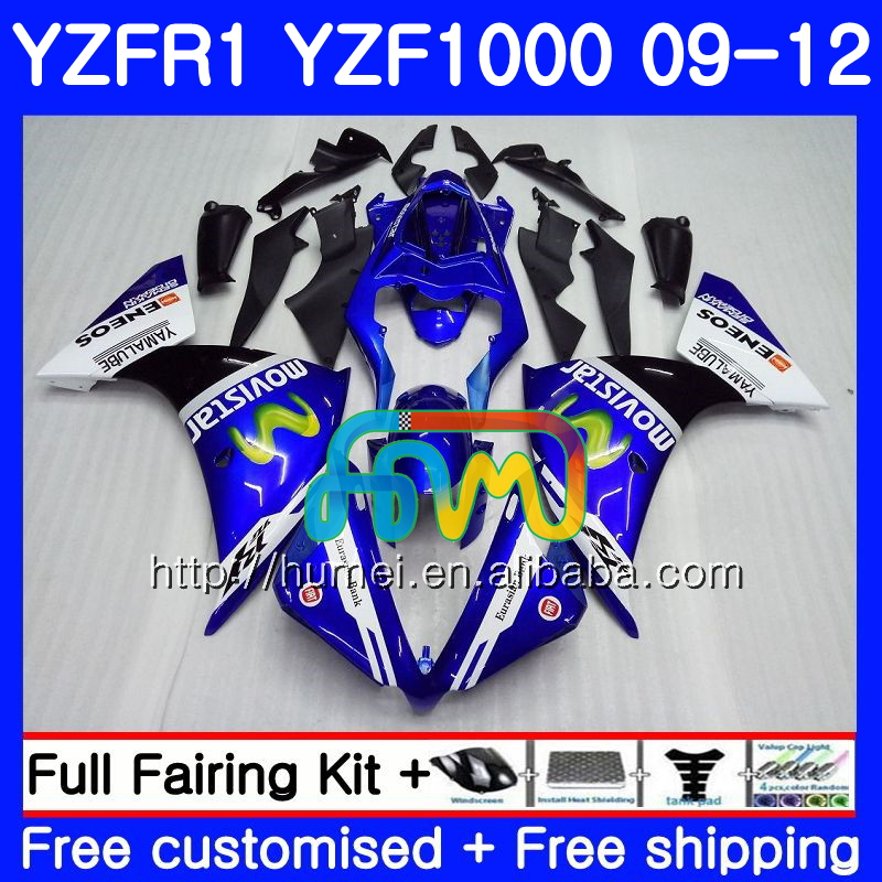 Body For YAMAHA YZF-<strong>R1</strong> Movistar Blue YZF1000 R 1 YZF-1000 104HM18 YZF 1000 YZF <strong>R1</strong> <strong>09</strong> 10 11 12 YZFR1 2009 2010 2011 2012 Fairing