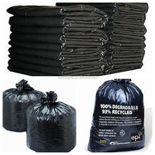Heavy duty 42 gallon black contractor plastic garbage trash bag,33x48 inches,3 mil