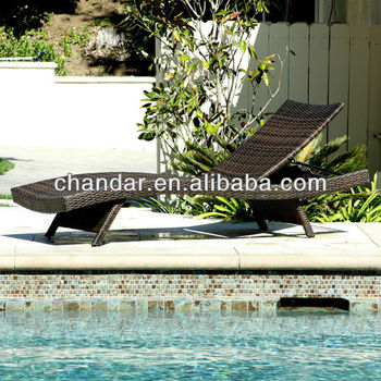 Rattan Pool Lounger,Cheap Garden Loungers,Plastic Sun Lounger