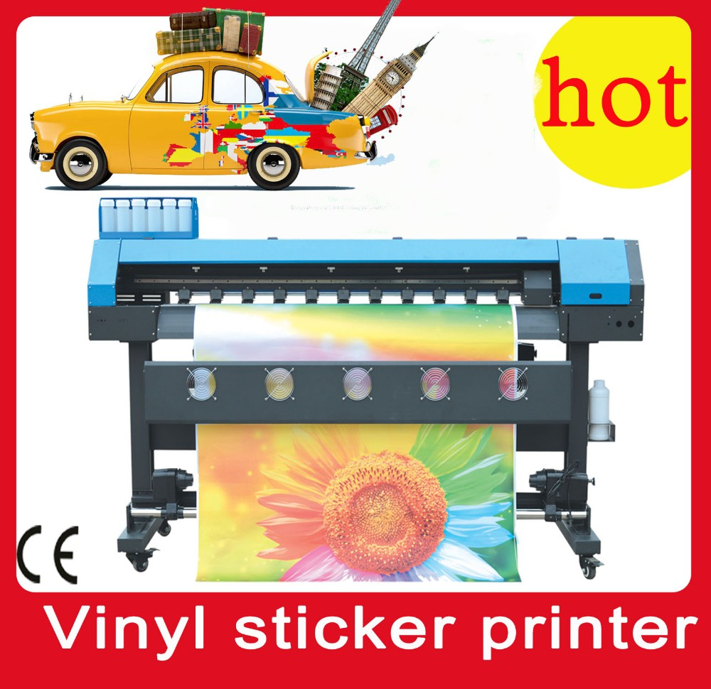 1.6m outdoor ECO solvent inkjet printer for banner DX8 printhead /sticker printer and cutter