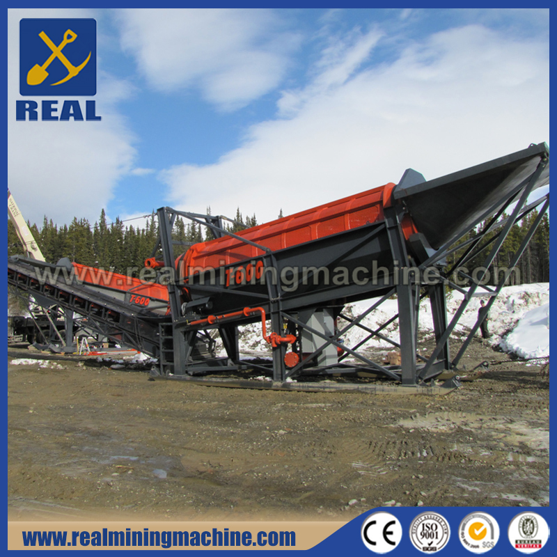 China Supplier Customized Mobile Gold Scrubber Trommel Screen For Sale