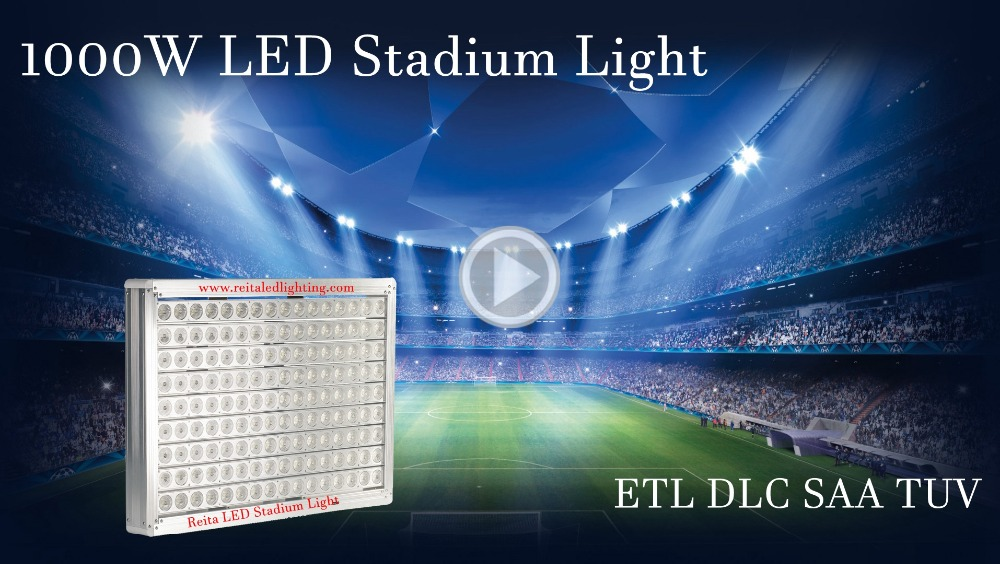 Outdoor Use IP65 IP67 led football floodlight and Field lighting 1000W for Stadium and Fitch