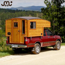 Deluxe decorated wooden trailer tiny house