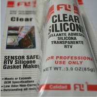 Hot sale pure clear silicone sealant , High temp RTV gasket maker for engine parts