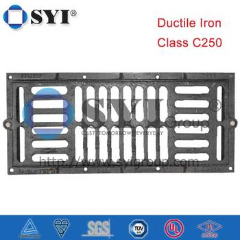 C250 Rectangle Clear Opening 384x404 Flat Top Gully Grating