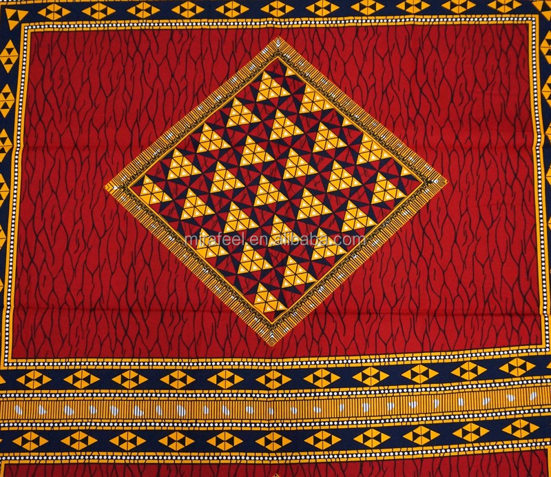 red design wax hollandais printed newest dashiki hot sell super material 100 cotton elegant pattern