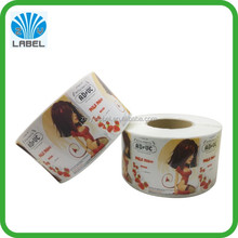 cheap price roll food label sticker adhesive color printing food sticker waterproof food package sticker