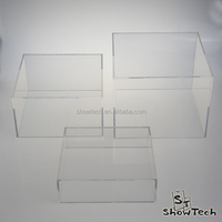 2016 Fashion Elegant Looking 3 Piece Square Acrylic Cube Display Set - Transparent ST-ACCUBEPF Z1