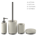 White 4PCS High quality polyresin bathroom accessories set from chinese new product cheap bathroom accessories sets