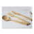 Eco-friendly wholesale hot sale natural bamboo disposable cake fork and  knife set