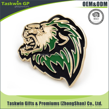 Special design for tiger pin, metal animal pin, cutom lapel pin with gold finished