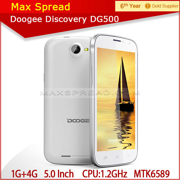 Cheap 5.0 inch MTK6589 Quad Core Doogee 500 android 4.2 3g dual sim googee mobile phone