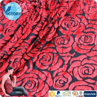 Beautiful Garments Fabrics 80 Rayon 20 Polyester Weft Knitted Burn Out Velvet Suits Designs