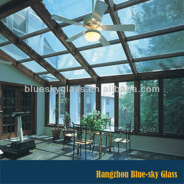LT 8+8 competitive price toughened laminated glass roof panels