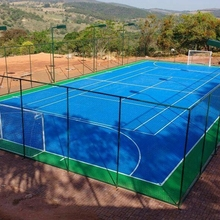 Protable outdoor rubber tennis court flooring with excellent sport function and easy-to-install