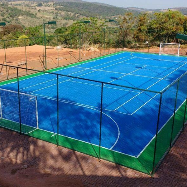 Protable sythetic outdoor rubber table tennis court flooring with excellent sport function and easy-to-install