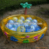 Plastic inflatable palm tree water pool,inflatable beach ball pool