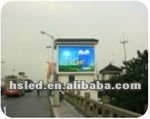 wall mounted monitor TV mobile sign display LED P10mm module ad panel LED real curtain 8500 nits LED screen