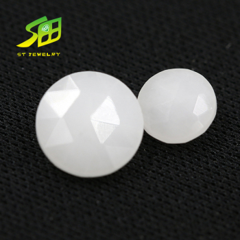 6mm natural white Agate round shape Rose cut gemstone