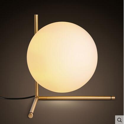 Nordic style minimalist modern decoration led E14 ball glass table lamp for bedside light 15-T5100-1