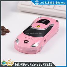 F3-2568 1.44inch very small car shaped mobile phone low price china phone with dual sim card phone support call attribution