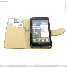 Card Slot Wallet PU Leather Case Pouch For SAMSUNG I9100 GALAXY S II SII S2 P-SAMI9100CASE008