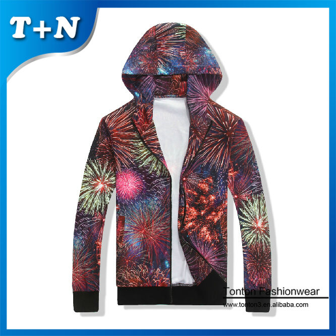 full over sublimation printing 100 polyester jacket neoprene hoodie