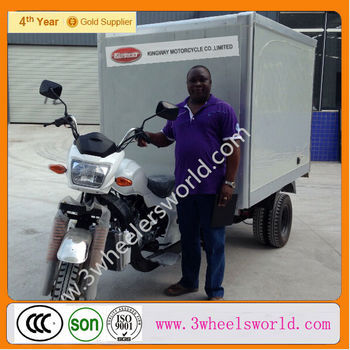 2014 China New Fashion 250cc Motor Tricycle/Three wheel motorcycle /motor three wheeler with Closed Fridge Cooling Cargo Box