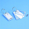 Standard credit card size tainless steel metal luggage tag
