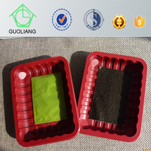 Safety Food Grade Plastic Packaging Box For Diced Lamb Meat With Absorbent Food Pad