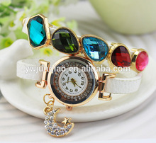 2014 Lady Luxury Watch Vogue Watch Fake Germs Stones Watch