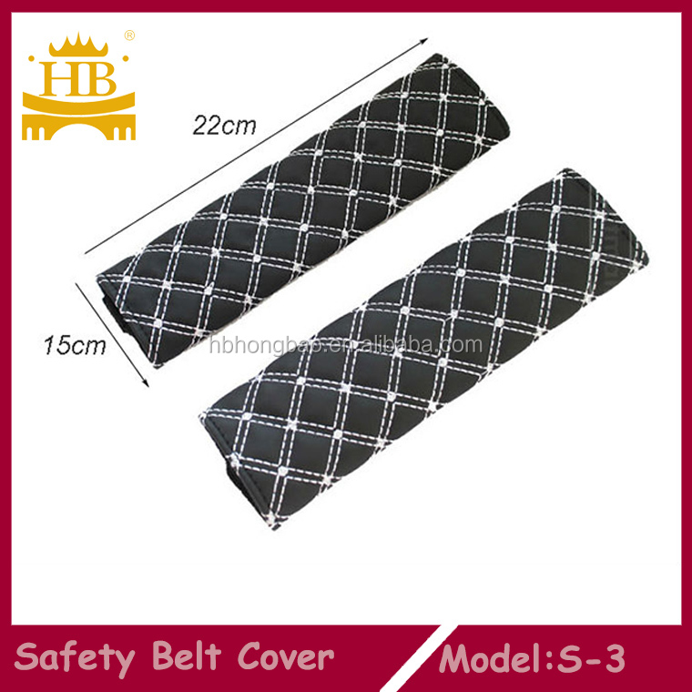 Embroidery car safety belt cover