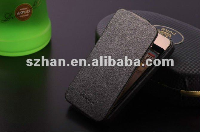 New mobile phone flip real leather case for iphone 4 4S
