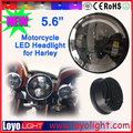 Round H4 12v 5.6 inch led headlamps for harley motorcycle black/chrome headlight