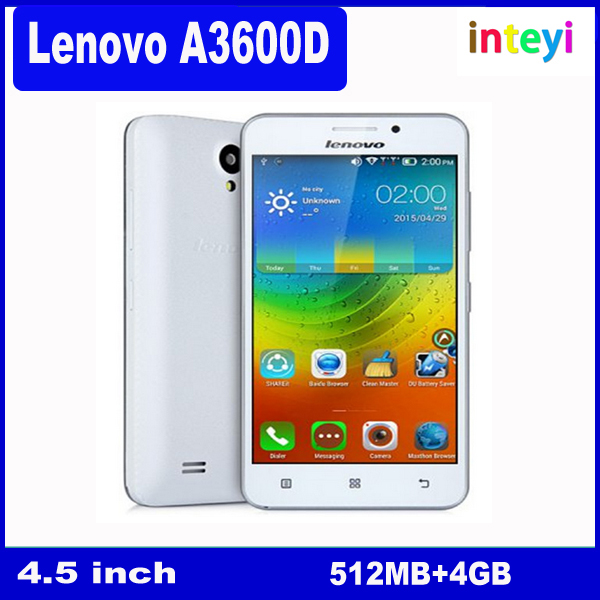 "Original Lenovo A3600 A3600D MTK6582M + 6290 Quad Core Android 4.4 512MB RAM 4GB ROM 5MP 4.5"" 854*480 IPS FDD LTE 4G Phone"
