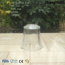 Pressed 300ml Glass Lamp Shade Clear Glass Shade