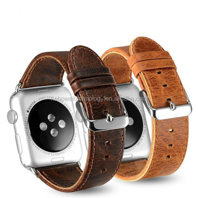 Vintage  Genuine Leather watch Band for Apple Watch 38mm/42mm, for Apple Watch leather band