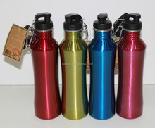 Single Wall Water Bottles with Wide Mouth, Available in Various Colors and Capacities