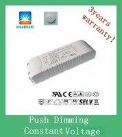 Hot selling CV 1600ma 40w PUSH DIMMING 24v LED driver with CE cert