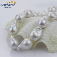 best quality 15-17mm AAA grade no point blemishes nucleated baroque freshwater pearl string