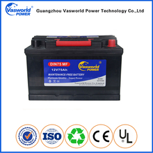 Lead acid battery automotive battery maintenance free 12v 75ah battery