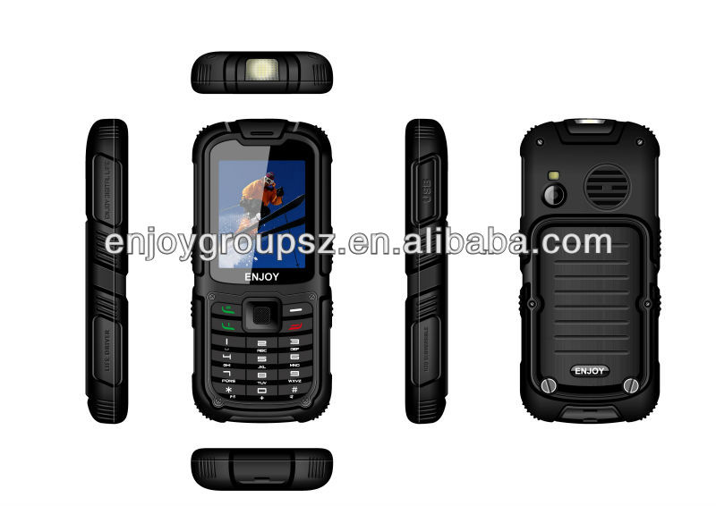 2.2inch rugged feature phone dual sim W26 6 inch big touch screen mobile phone MTK6582 IP67Waterproof Dustproof