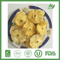 Frozen dried pineapple dices